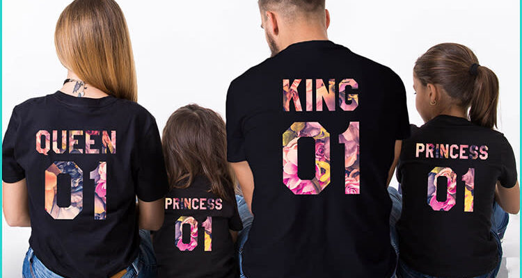 4 Ideas For Matching T-Shirts For The Whole Family
